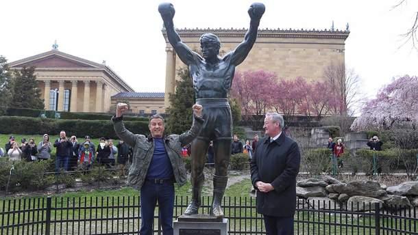 Сильвестр Сталлоне открыл памятную доску для Рокки