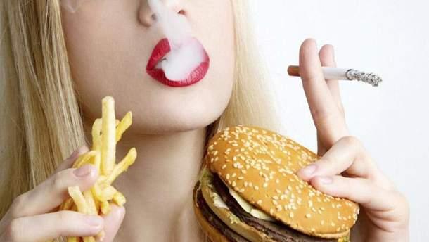 Курильщики выбирают калорийную пищу