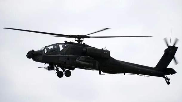 У США розбився військовий гелікоптер Apache