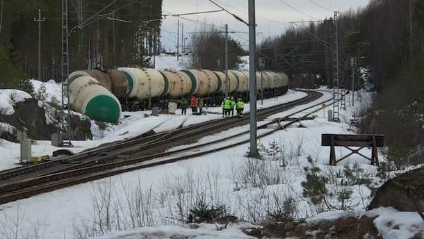 Авария на железной дороге в Финляндии