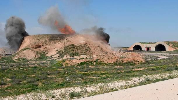 Последствия атаки на сирийскую военную авиабазу