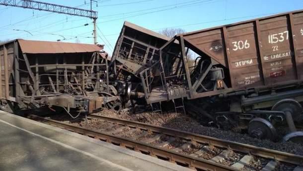 Через аварію рух залізницею заблокований