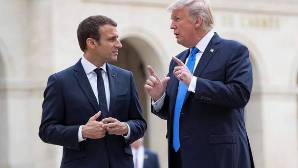Президент Франції Еммануель Макрон і президент США Дональд Трамп