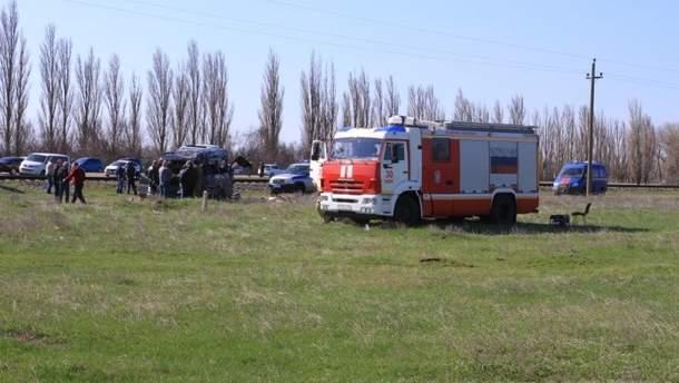 Наслідки аварії автобуса та електрички в Криму