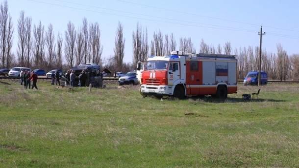 Последствия аварии автобуса и электрички в Крыму