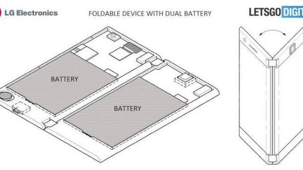 LG запатентовала смартфон с двумя экранами
