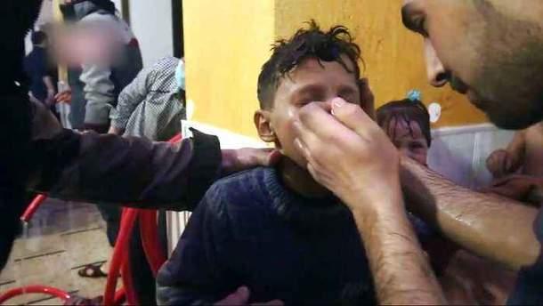 Химическая атака в сирийском городе Дума