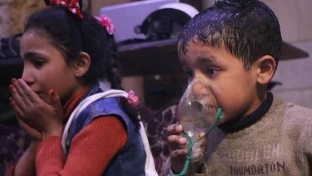 От химической атаки в Думе пострадали дети