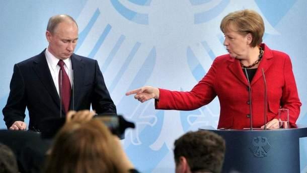Меркель с Путиным обсудили введение миротворцев на Донбасс