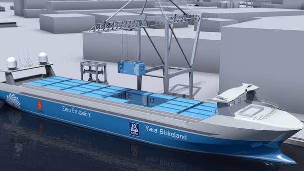 В Норвегии планируют использовать беспилотные грузовые суда