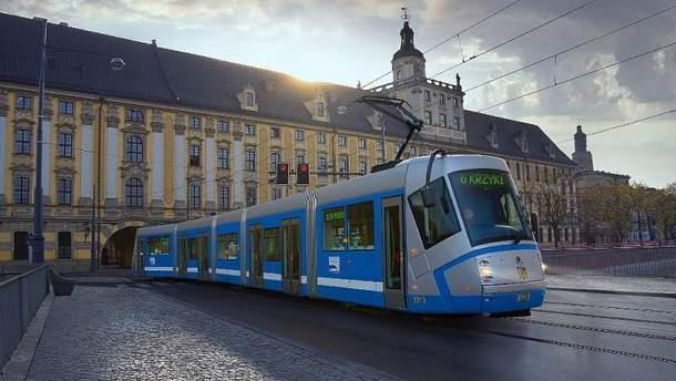 У громадському транспорті Вроцлава з'явилася українська мова