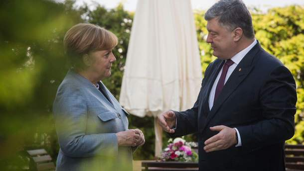 Порошенко провел встречу с Меркель