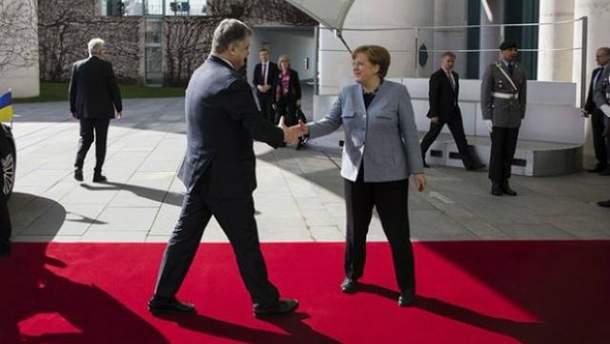Встреча Порошенко и Меркель 10 апреля