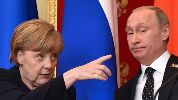 """Меркель вказала Путіну на небезпеку для України від """"Північного потоку-2"""""""
