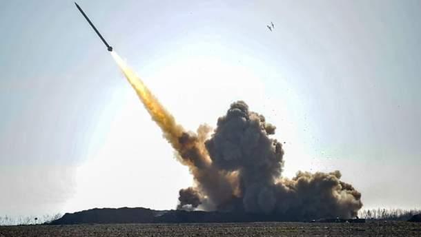"Випробування потужного ракетного комплексу ""Вільха"""