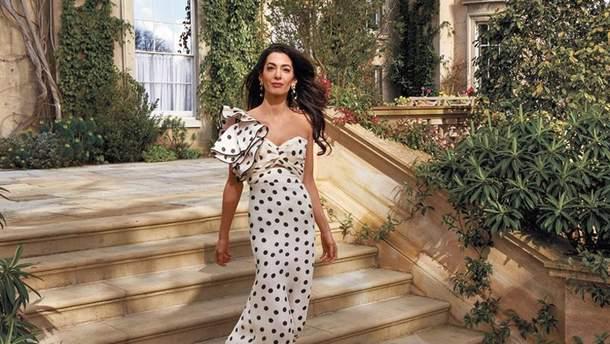Амаль Клуни на съемках для Vogue