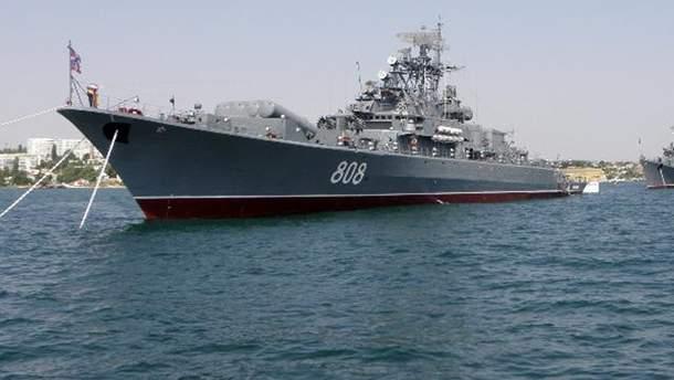 Корабель Чорноморського флоту Росії в Севастополі