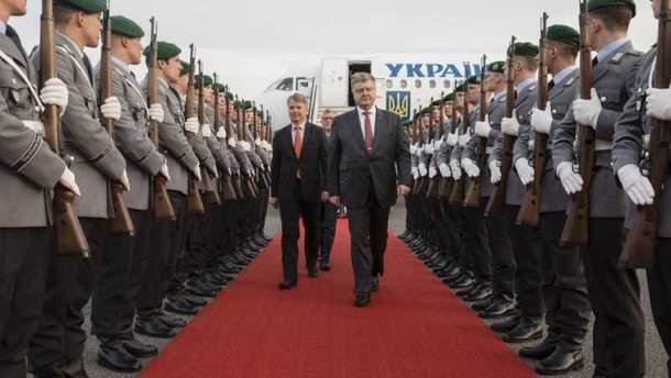 Петр Порошенко с рабочим визитом в Германии