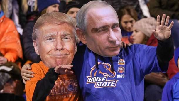 Дональд Трамп и Владимир Путин в меткой карикатуре