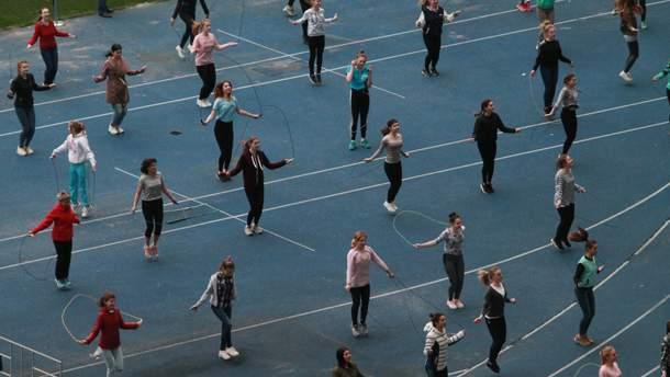 В Киеве установили рекорд Украины по прыжкам на скакалке