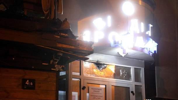 ОНОВЛЕНО: УКиєві згранатомета обстріляли будівлю Київміськбуду