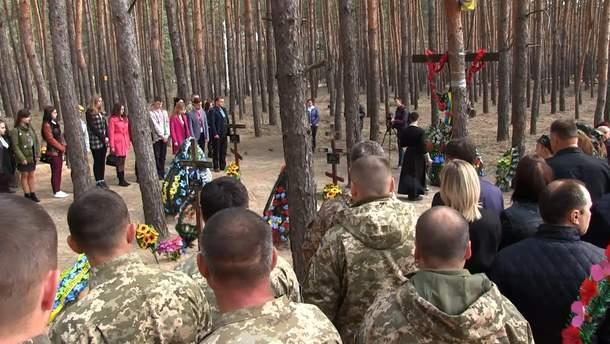 Почтение памяти павших защитников на Луганщине