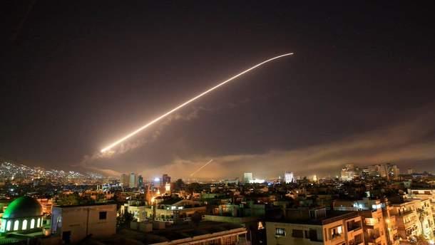 Атака по Сирії: опублікована карта з цілями ракетних ударів