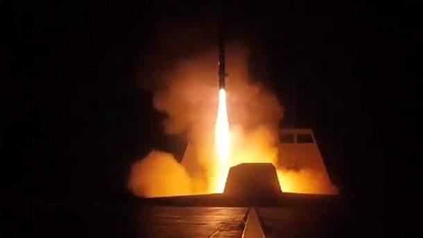 Запуск ракет по Сирии
