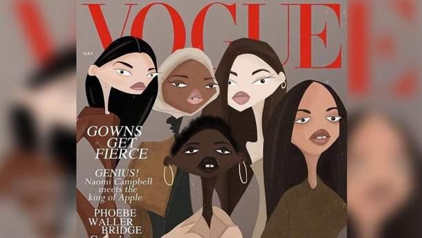 Иллюстрация Сенчука в British Vogue