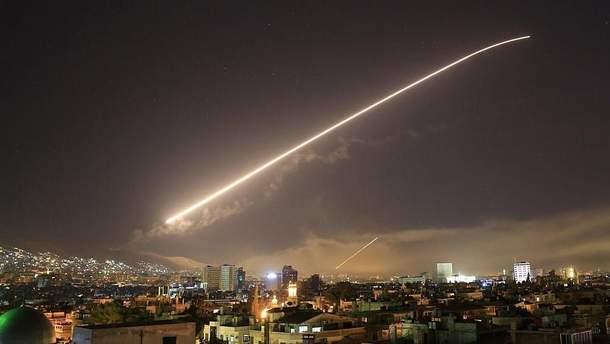 Ракетный удар по Сирии