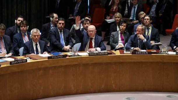Совбез ООН не поддержал резолюции России касательно удара по Сирии
