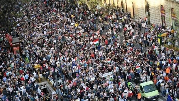 Протесты в Будапеште