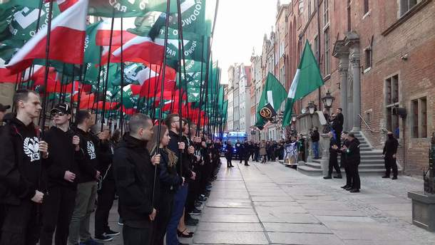 Марш ONR в Гданьске