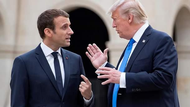 Макрон рассказал, как убеждали Трампа относительно войск в Сирии