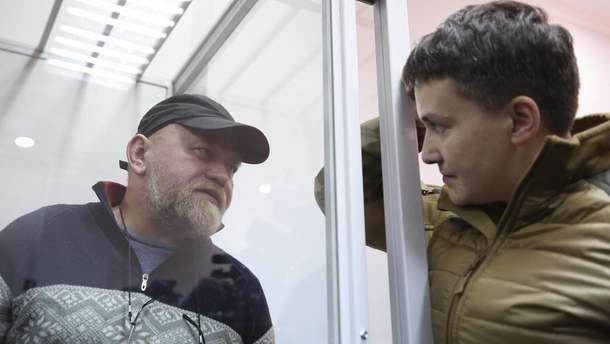 Допрос Савченко наполиграфе начался без юристов  - сестра