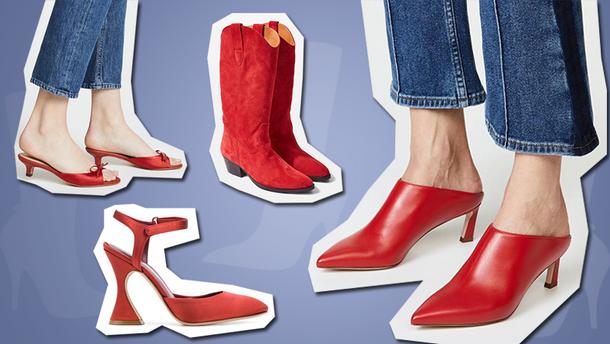 С чем носить красную обувь: варианты в фото