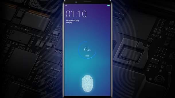 Ще одна китайська компанія отримала патент на сканер відбитків вбудований під дисплеєм