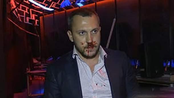 Дмитро Лінько з розбитим обличчям