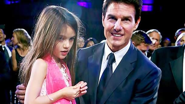 Том Круз с дочкой