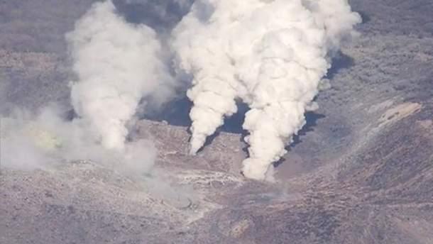 Виверження вулкана в Японії 19 квітня
