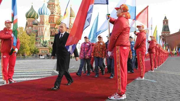 Володимир Путін на Красній площі у Москві (ілюстративне фото)