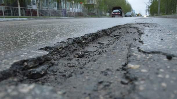 В Украине ужасное состояние дорог