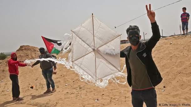Запуск воздушных змеев у границы с сектором Газа, 20 апреля 2018 года