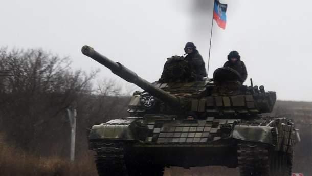 """Оккупанты стреляли из танка вблизи КПВВ """"Гнутово"""""""