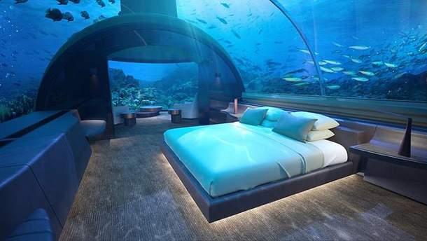 Підводний готель на Мальдівах