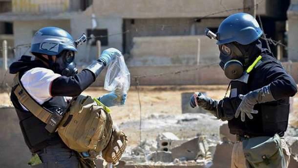 Експерти ОЗХЗ у Сирії зібрали зразки для аналізу на місці ймовірної хімічної атаки