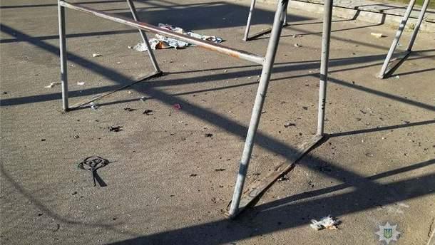 Взрыв на спортивной площадке в Киеве