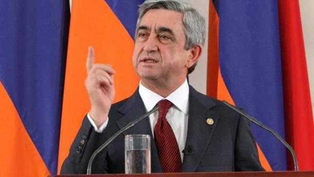 Протесты в Армении: премьер Саргасян назвал условие, при котором уйдет с должности