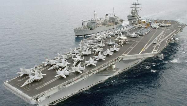 США можуть залишити авіаносець у Середземному морі для стримування Росії