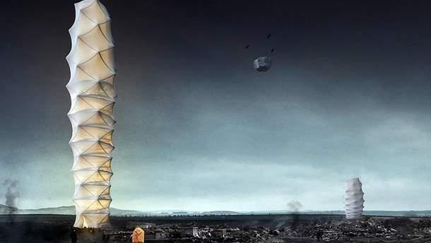 Польские архитекторы создали проект небоскреба в стиле оригами: захватывающие кадры